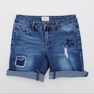 Girl's HUDSON Denim Stretchy Shorts sz 16